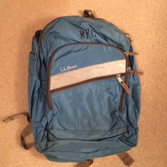 LL Bean Monogrammed Deluxe Backpack